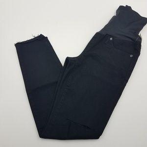 GAP Maternity Full Panel Distressed Skinny Jeans